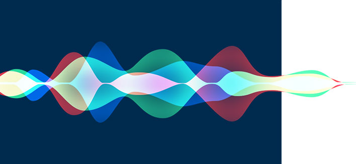 image of voice/sound waves to depict Voice Search Optimization