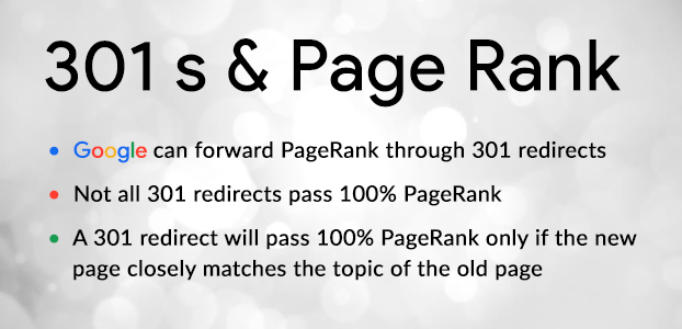 301 redirects effect page rank